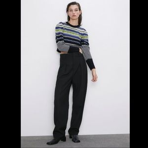 Zara Jacquard Knit Sweater